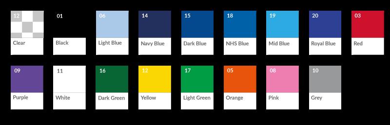 Plastic Card Holder Colours